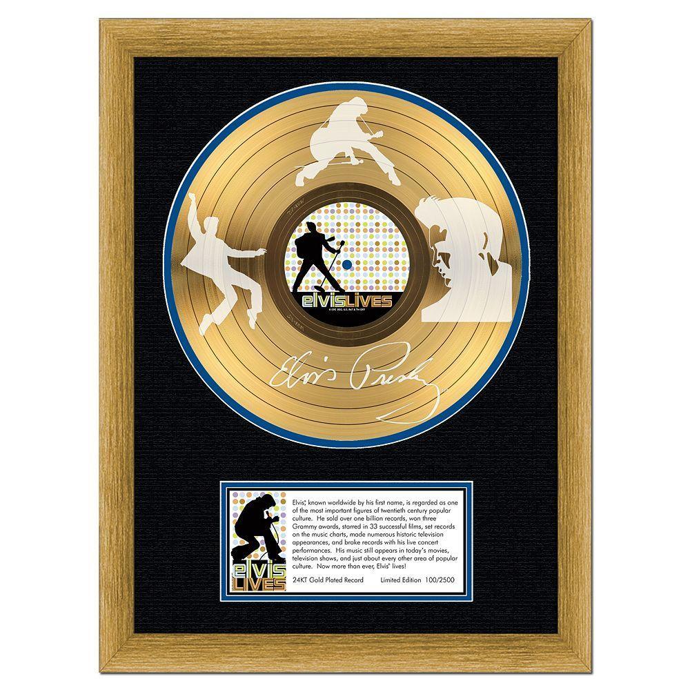 Kohl\'s Elvis Presley Elvis Lives 16 x 20 Framed Etched Gold LP ...