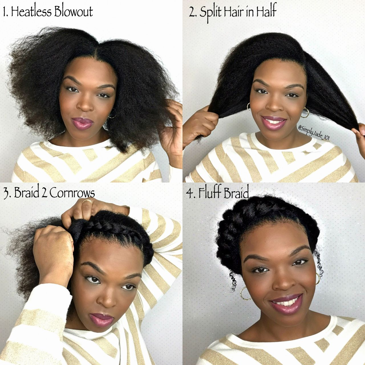 How To Style Short Hair Without Heat Short Natural Hair Styles