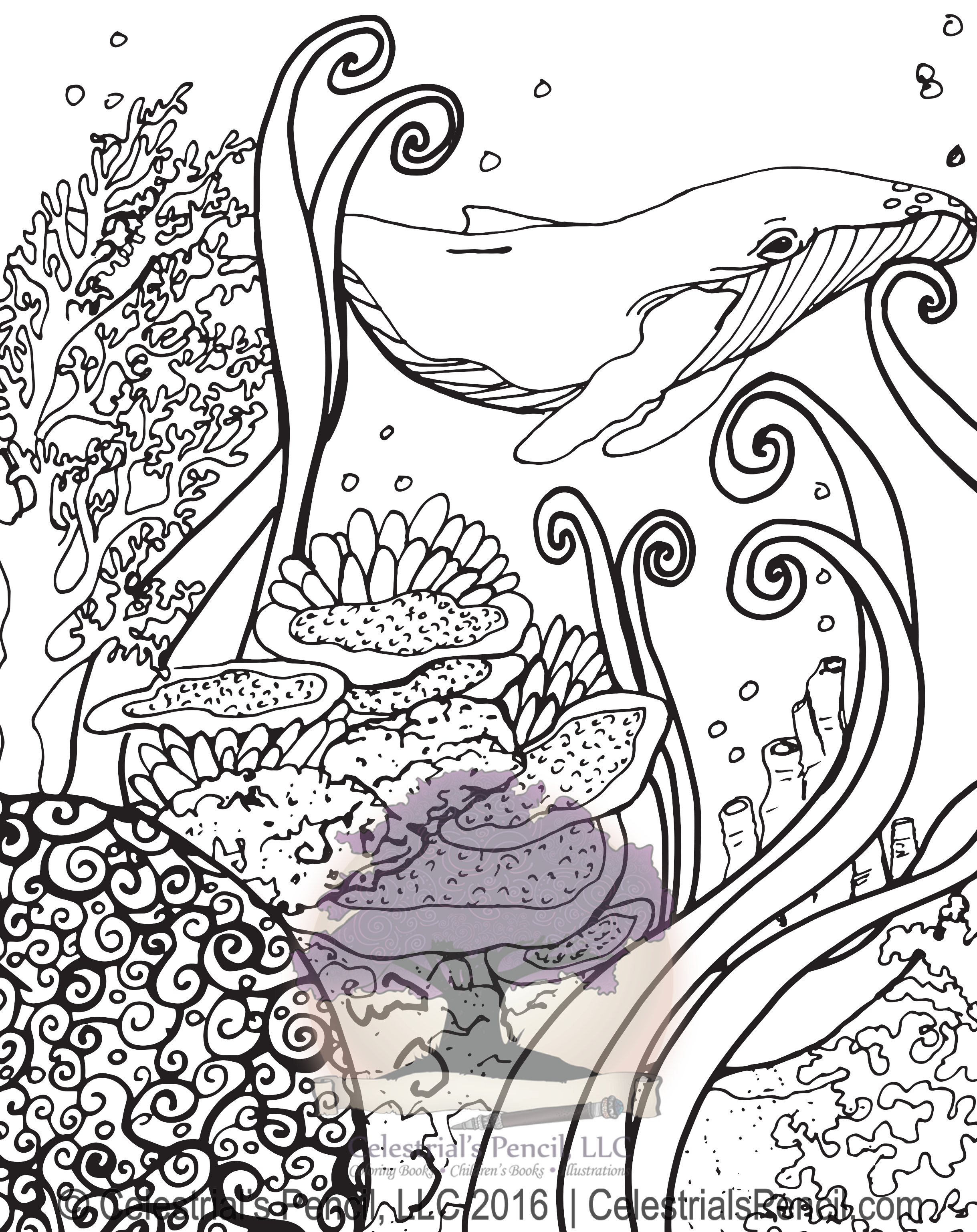 Whale #Whale #Coloringbook #Illustration #Ocean @Sealife #Coral ...