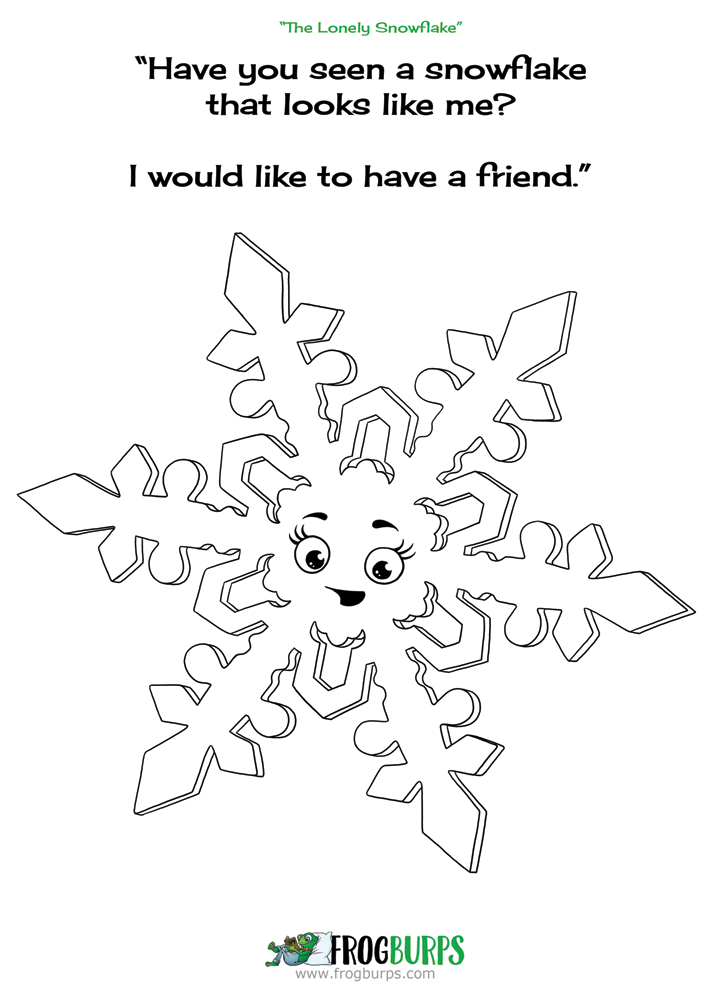 Color Snowflake from the children\'s book \