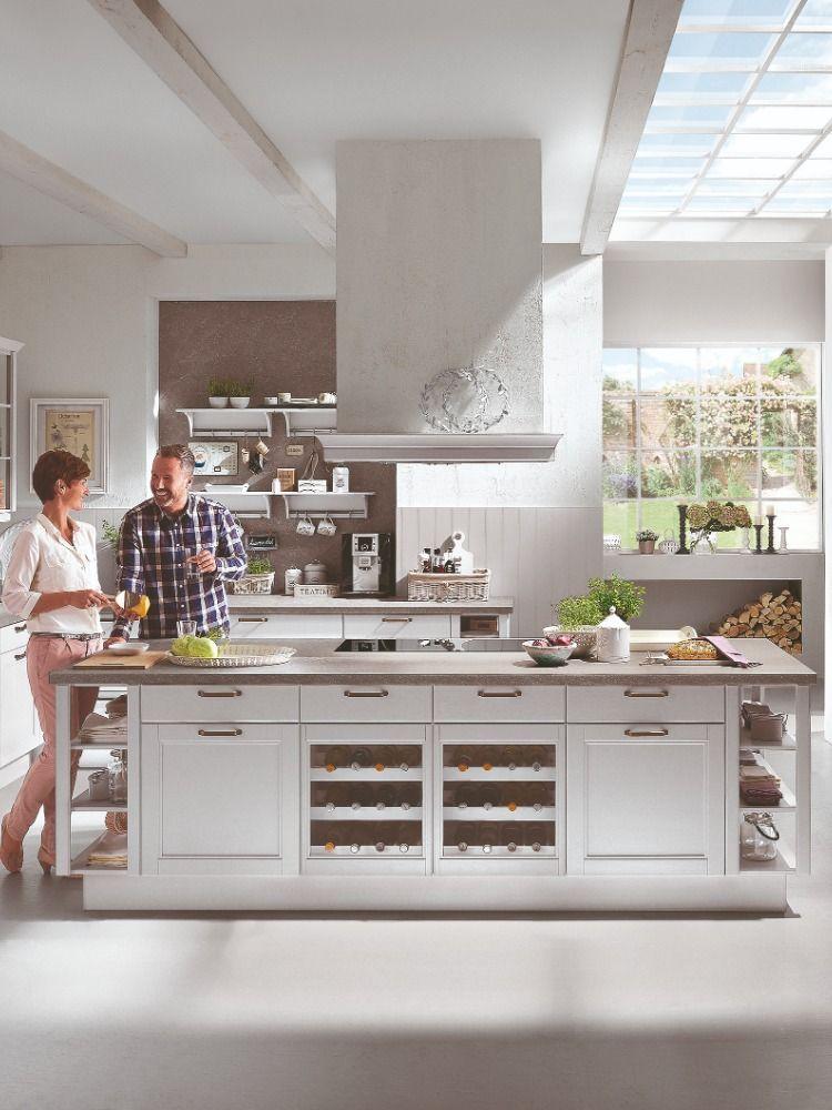 helle Küche, weiß, New York Loft, Großstadt, mit