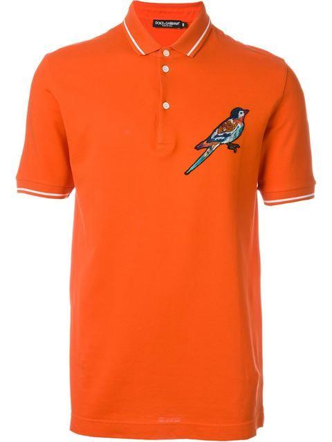 Embroidered Bird Polo Shirt Dolce Gabbana Men Pinterest