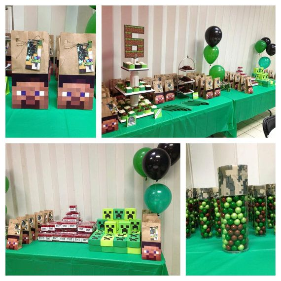 Minecraft Inspired Birthday Party Favors By SimisLoves On