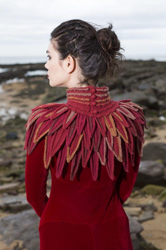 Raven Collar #knittingdesigns
