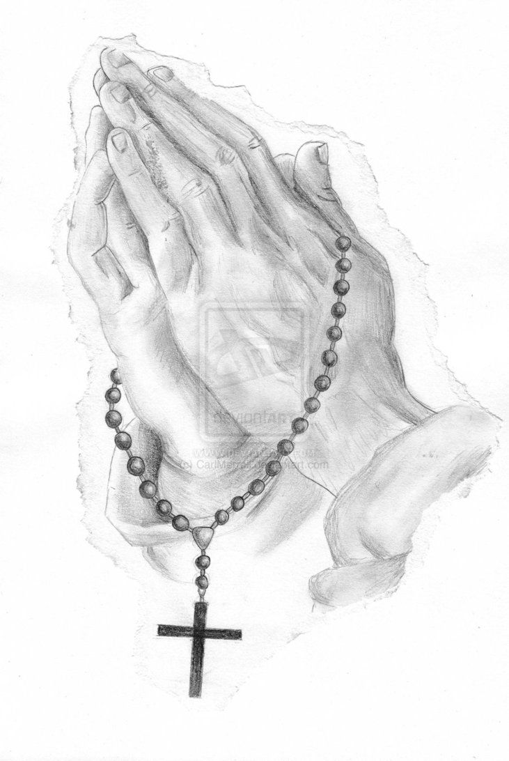 Rosary Praying Hands Tattoo By Carlmerrell On Deviantart