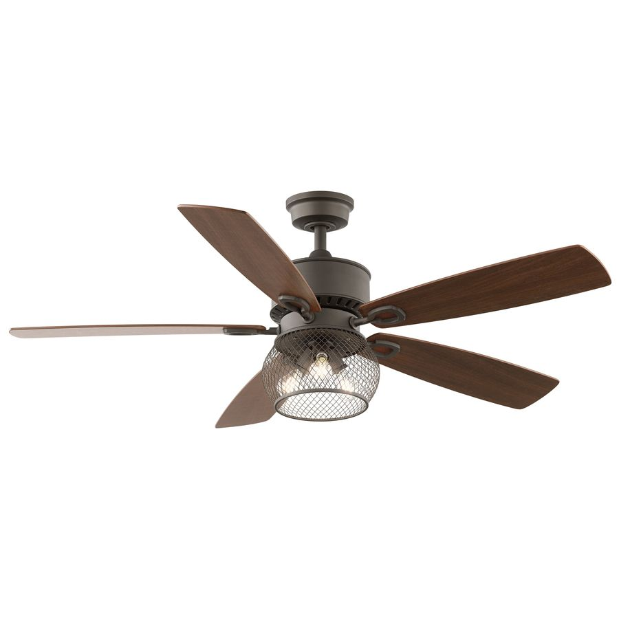 229 kichler lighting clermont 52in satin natural bronze downrod mount indoor ceiling fan with - Kichler Fans