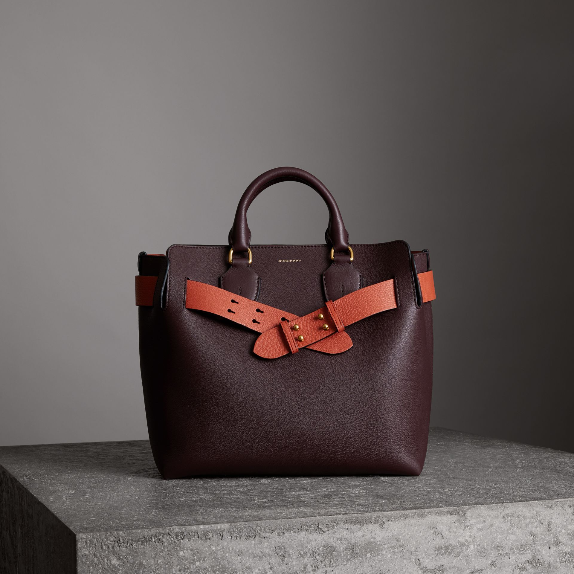 861b638d91 A belted tote by  Burberry influenced by our iconic trench