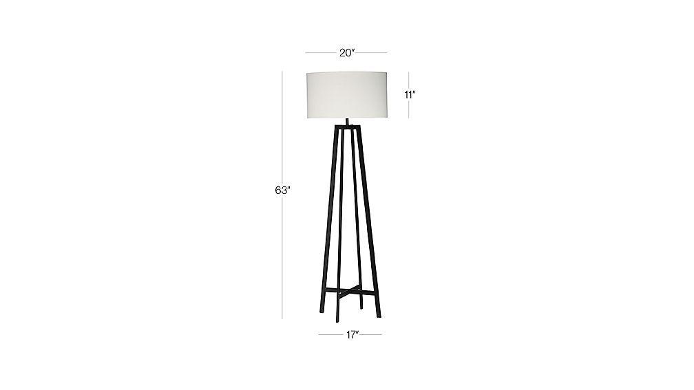 Castillo Black Floor Lamp Dimension Black Floor Lamp