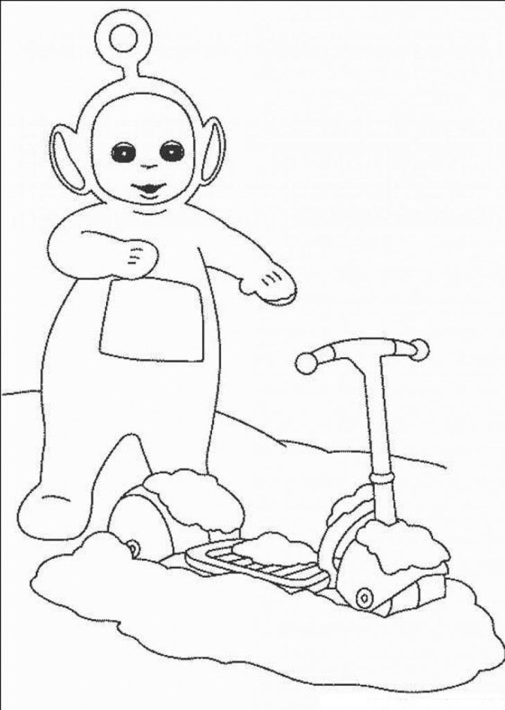Free Printable Teletubbies Coloring Pages For Kids With Images