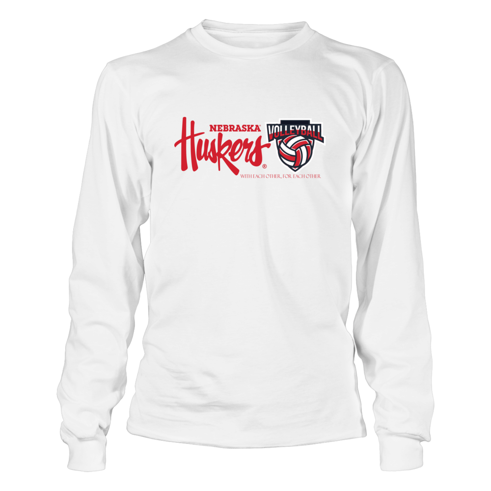University Nebraska Volleyball With Each Other For Each Other T Shirt Officially Licensed University N Long Sleeve Tshirt Men Volleyball Outfits Mens Tops [ 1000 x 1000 Pixel ]