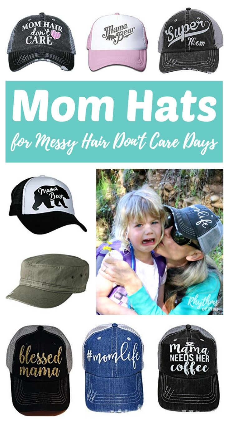 172a4ab2b5dc6c Mother's Day Gift Ideas -- A fun collection of mom hats for messy hair  don't care days. Which hat is perfect for your mom? Click through to find a  cheap and ...