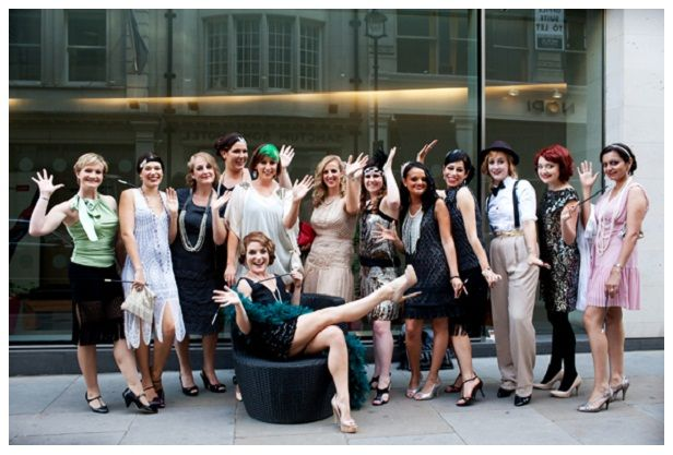 How To Throw A Great Gatsby Themed Bridal Shower Hen Party Fancy Dress Bachelorette Party Pictures Hens Party Themes