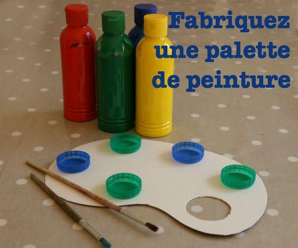 fabriquez une palette de peinture recycling pinterest palette peinture peinture et palette. Black Bedroom Furniture Sets. Home Design Ideas