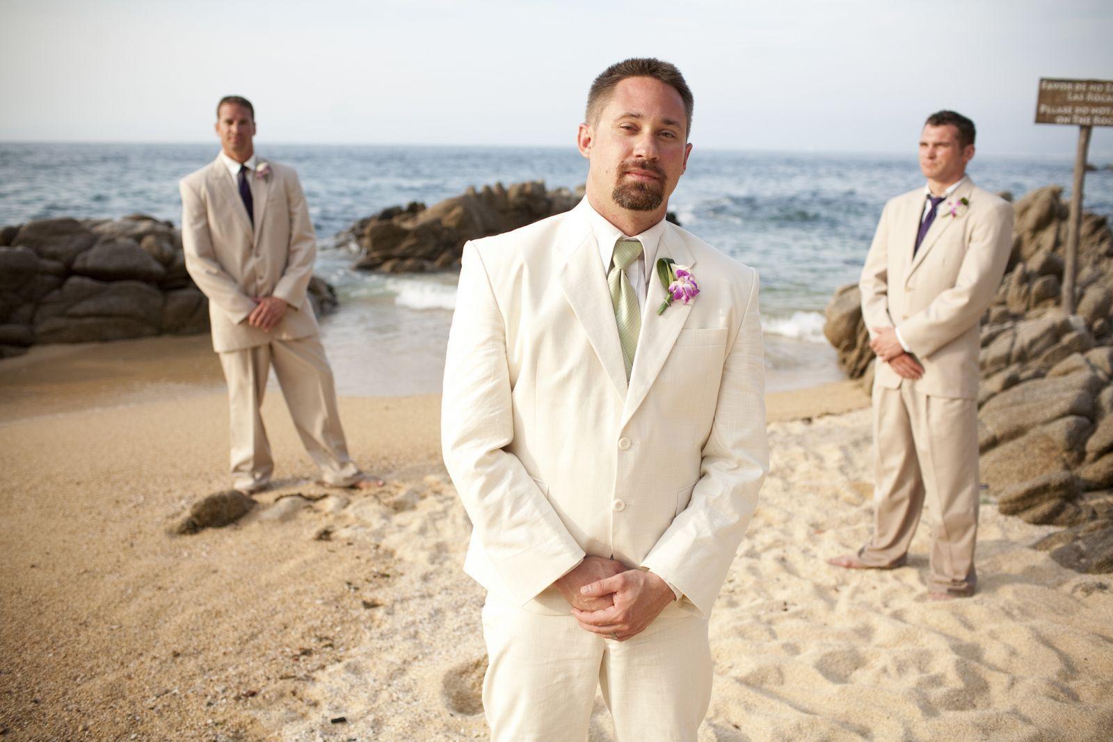 Linen Suits for Men Beach Wedding | Sand & Sea wedding | Pinterest ...
