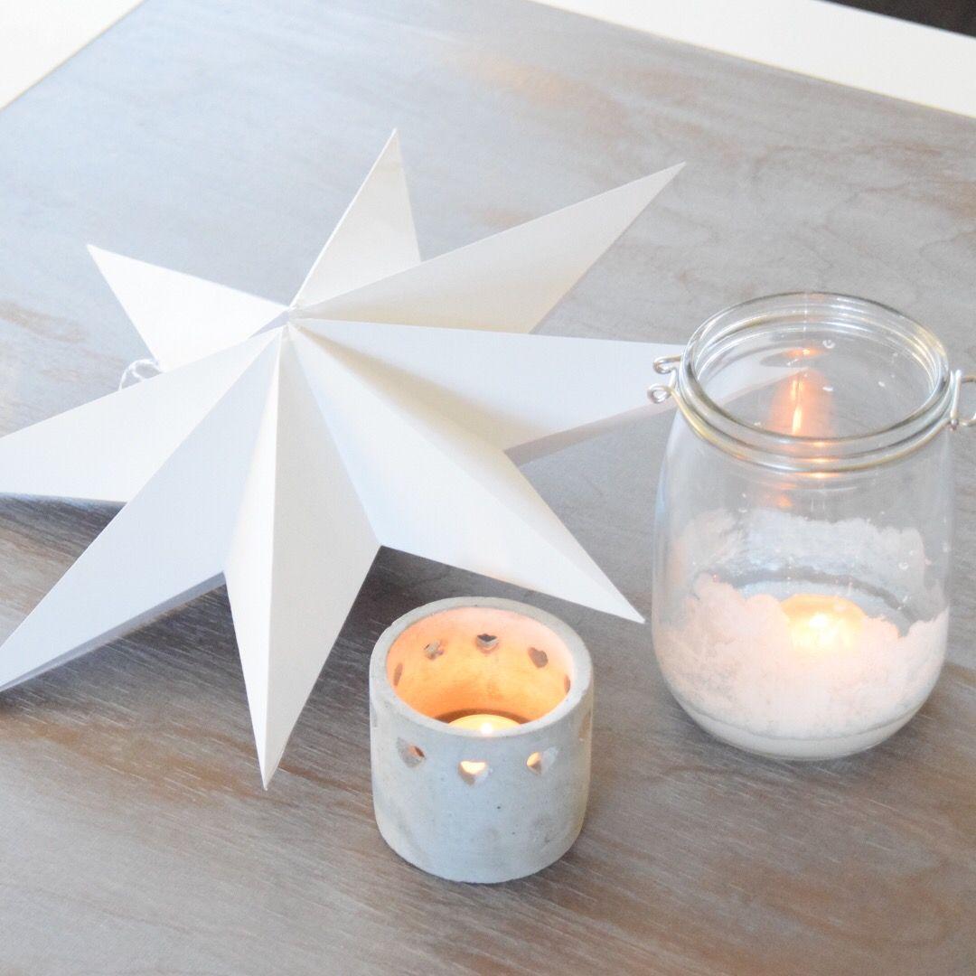 Winterliches DIY:Windlicht mit Salzkristallen