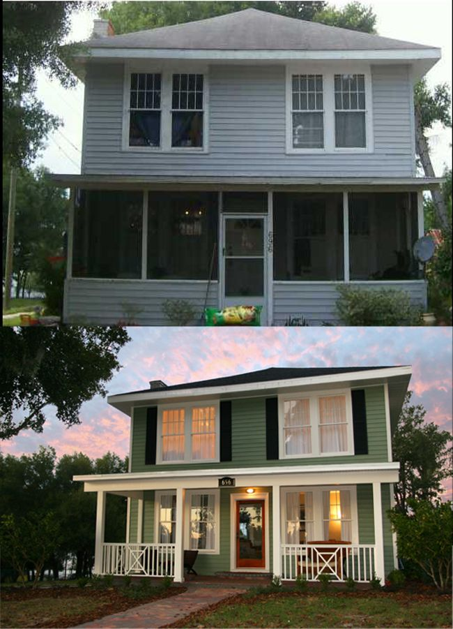 Home renovations before and after take a look how you can for Renovate front of house