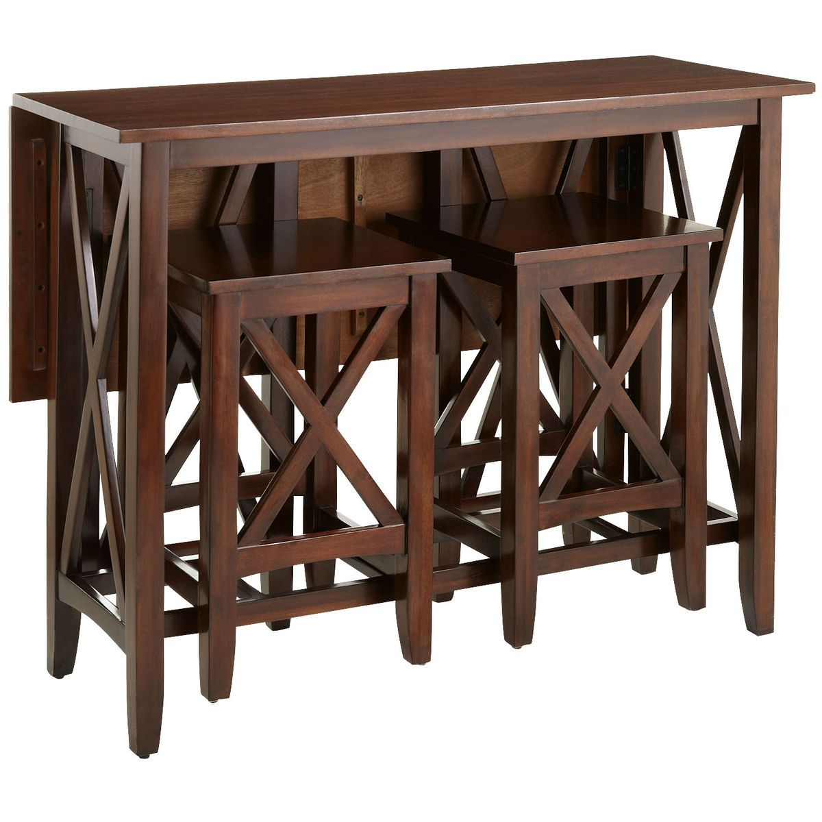 Kenzie Mahogany Brown Breakfast Table Set | Breakfast table setting ...