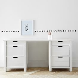 Kids White Desk With Drawers Roll Top Computer Desks