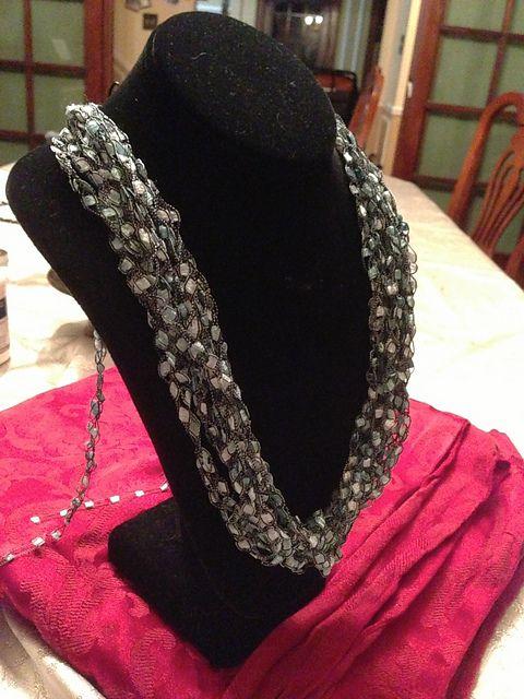 Ravelry: Easy Ladder Yarn Necklace pattern by Joy Povich ...