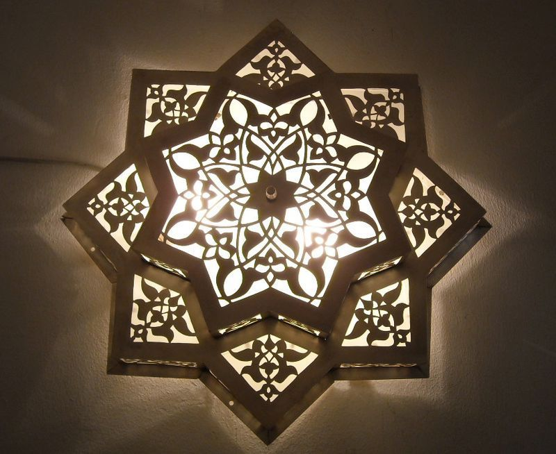 Moroccan Flush Mount Star Ceiling Light Fixture Lamp