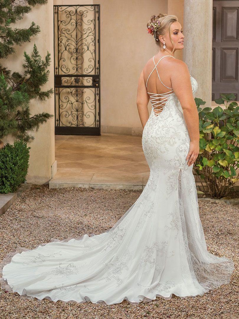 Style 2336 Soraya Ivory Silver Wedding Dresses Casablanca Bridal Gowns Affordable Wedding Gown [ 1080 x 810 Pixel ]