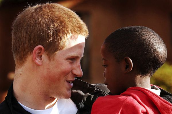 Prince Harry learned how to show Love to the AIDS Children - Love and Compassion of his Mum Lives in him..Eternal......