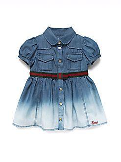 ca68de19f Gucci - Infant's Washed Ombre Denim Dress | Gucci | Gucci baby ...