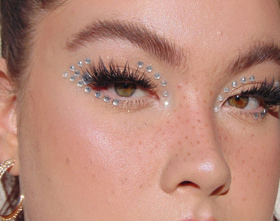 "Lou on Instagram ""Diamanté eyes Inspo maddy on euphoria"