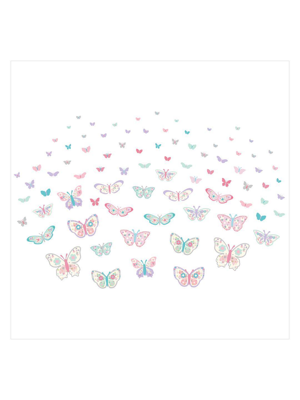 Flutterby butterfly wall art kit kids fashion pinterest