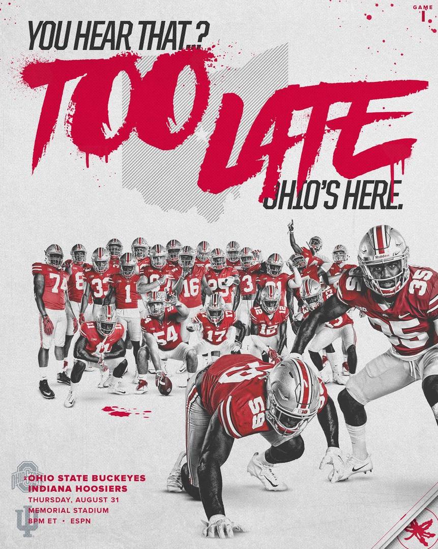 Game 1 8 31 2017 The Vs Indiana Poster Mit Bildern