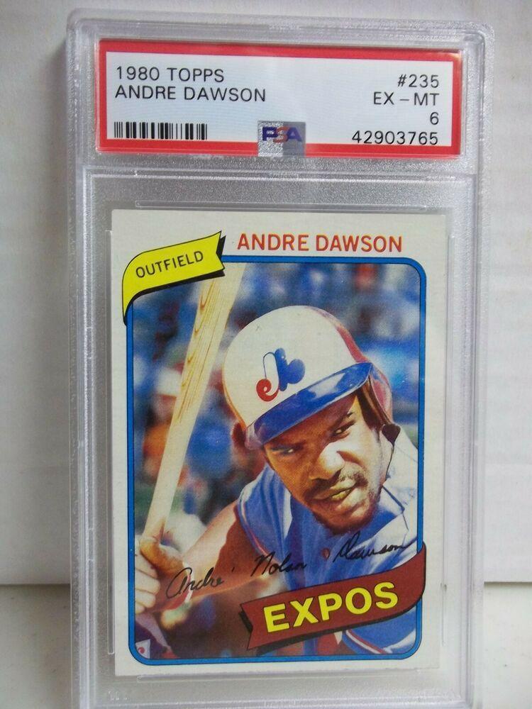 1980 Topps Andre Dawson EXMT 6 Baseball Card 235 MLB