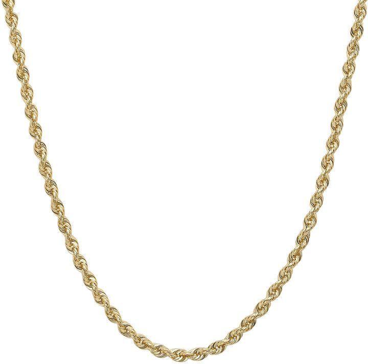 Fine Jewelry 14K Gold Glitter Rope 18-30 1.75mm Chain ZV8YsfpZ