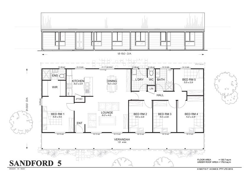 Met-Kit Homes floor plans - Blaxland 3 - Affordable, budget steel ...