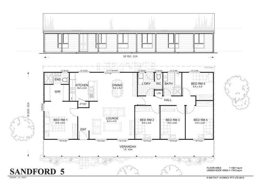 Metkit Homes Floor Plans  Blaxland 3  Affordable Budget Steel Interesting 5 Bedroom Floor Plan Designs Design Decoration