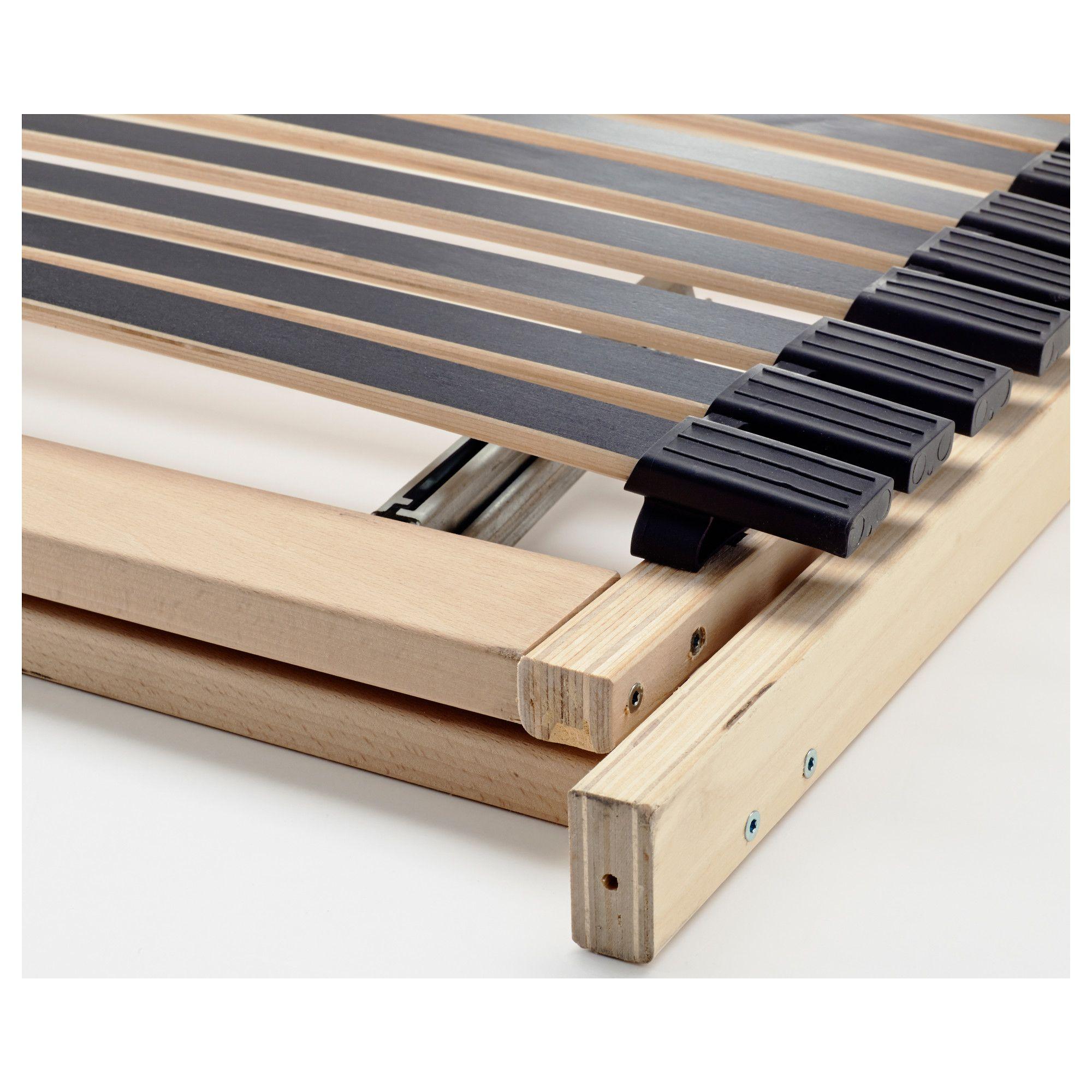 IKEA LEIRSUND Slatted bed base, adjustable Bed base