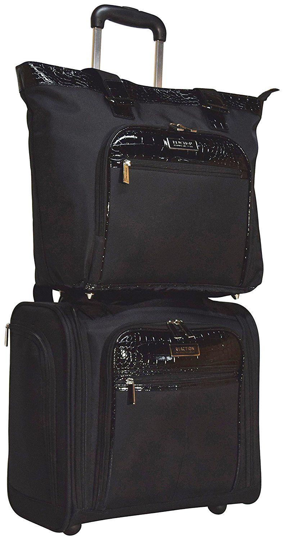 Kenneth Cole Reaction Croc 2-Piece Luggage Set: Wheeled Under Seat ...