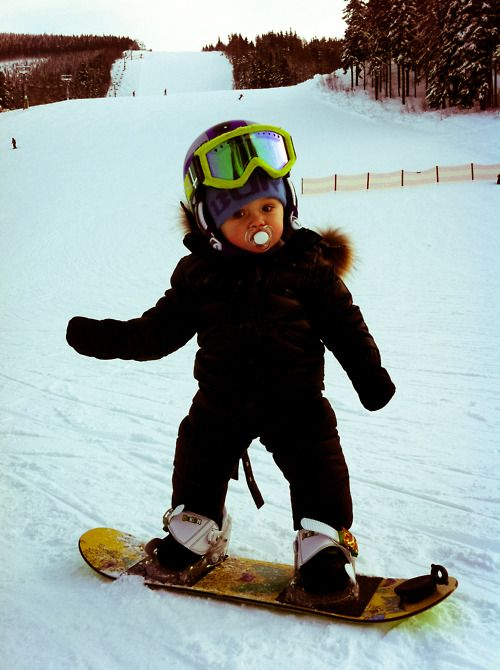 a55c96d4805 Baby Snowboarder! Too cute!