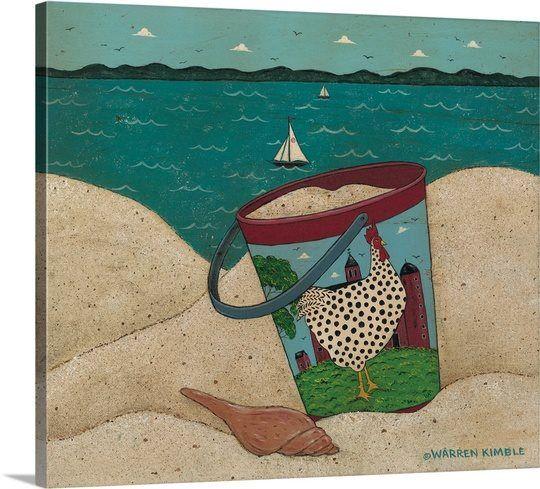 Sandpail..Dotty by the Sea...By Warren Kimble