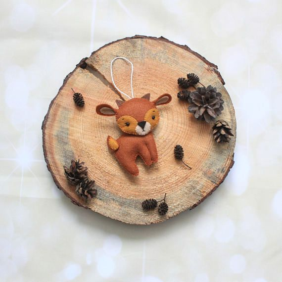 felt reindeer ornament christmas ornament stuffed reindeer