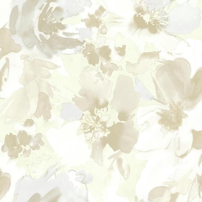 Aquarella Wallpaper In Beige Design By Stacy Garcia For