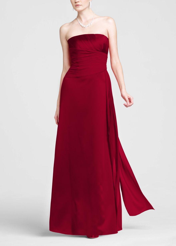 Strapless Chiffon Short Dress Style F12284