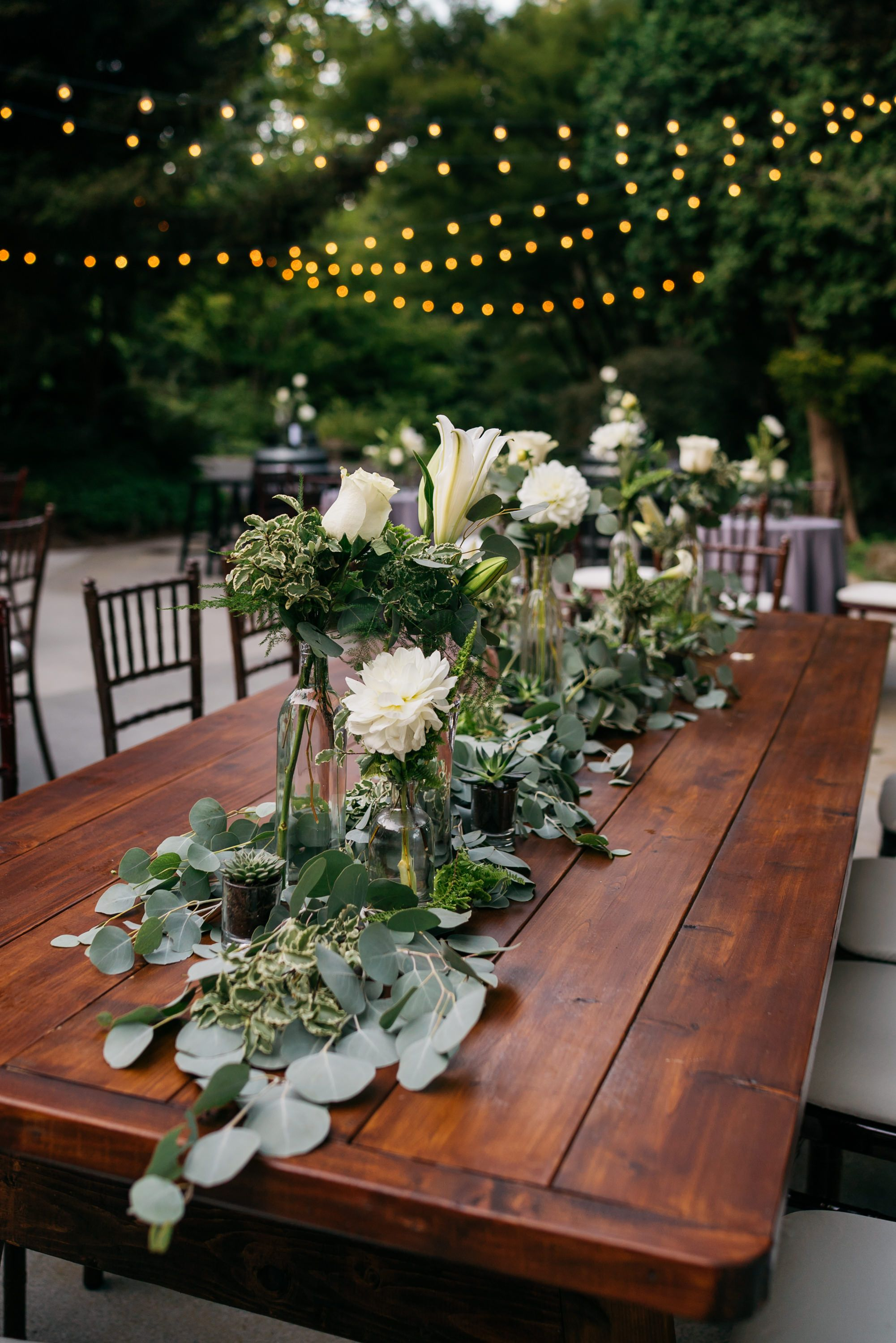 Wedding Flowers Centerpiece Succulent Wedding Farm Table