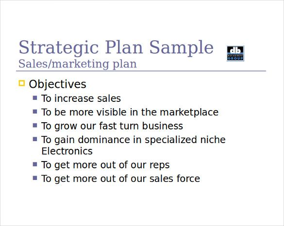 sample sales business plan
