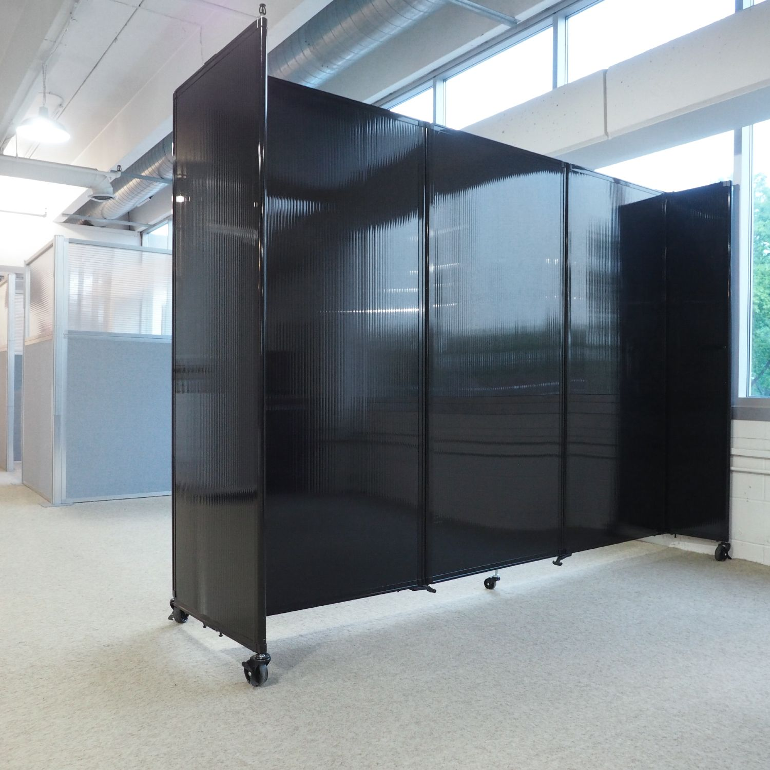 Delicieux Separate Space In The Office With A Modern Looku2014Our Cool, Dark  Polycarbonate Dividers Maintain A Fresh Look.