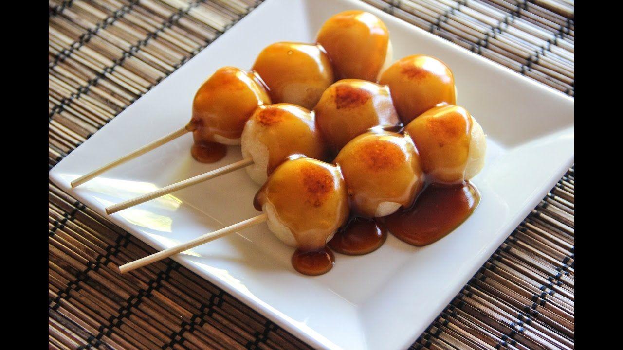 Mitarashi Dango Recipe Japanese Cooking 101 YouTube