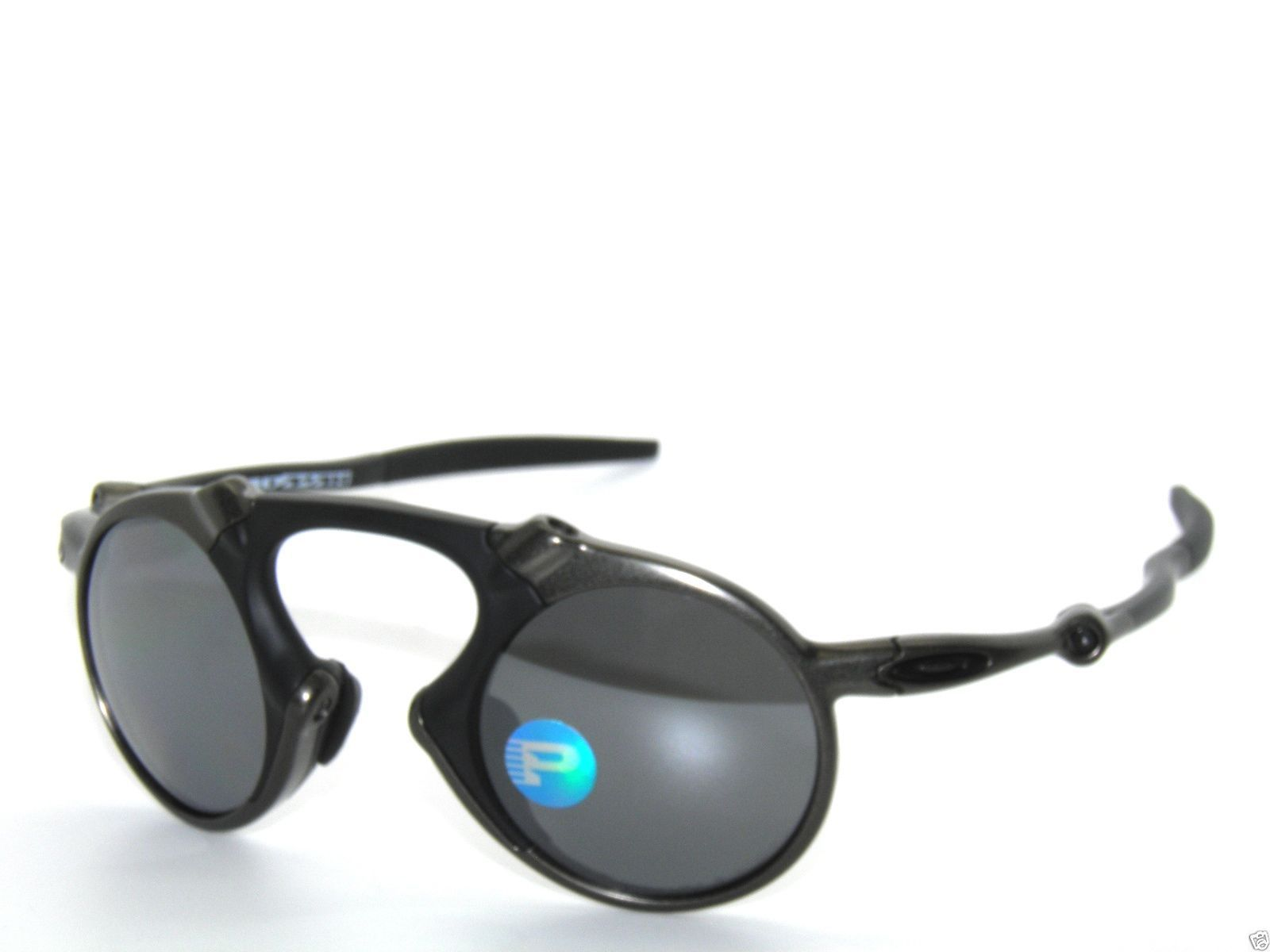 7e56a6245ae CLEARANCE OAKLEY MADMAN 6019-02 PEWTER BLACK IRIDIUM POLARIZED Sunglasses