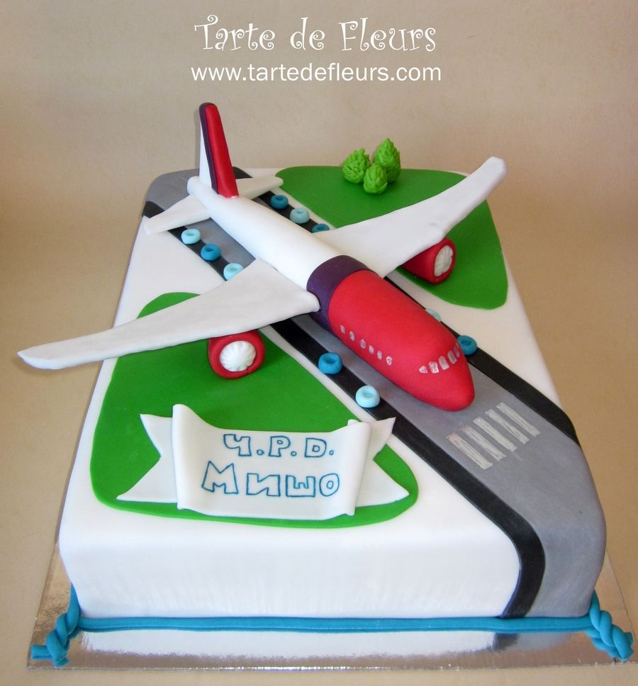 Airplane cake on cake central cakes pinterest cake for Airplane cake decoration