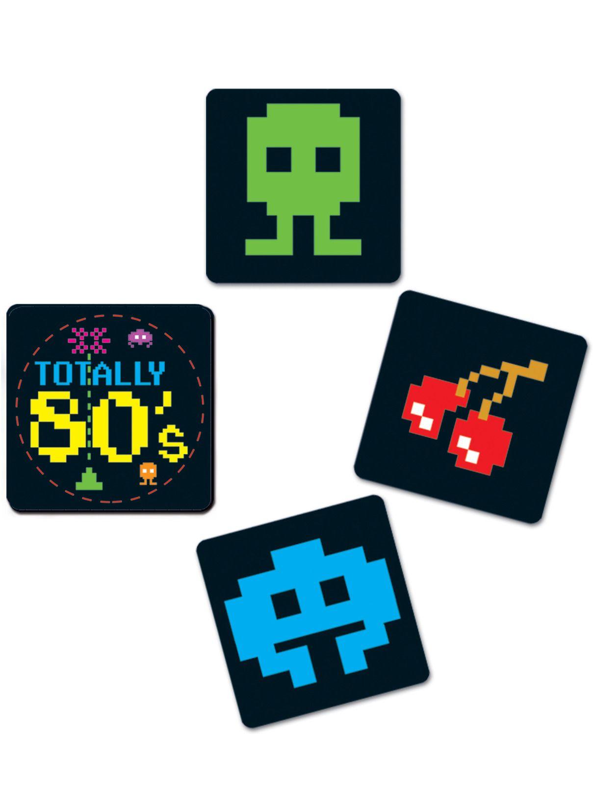 8 sottobicchieri anni '80 su VegaooParty, negozio di articoli per feste. Scopri il maggior catalogo di addobbi e decorazioni per feste del web,  sempre al miglior prezzo!