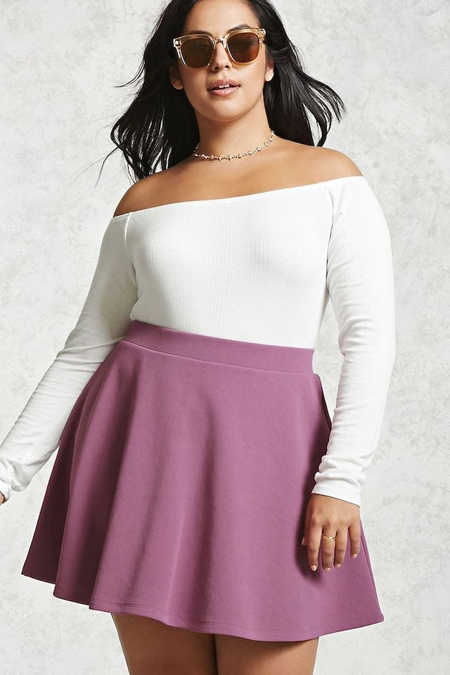 plus size skater skirt | outfit inspiration | pinterest