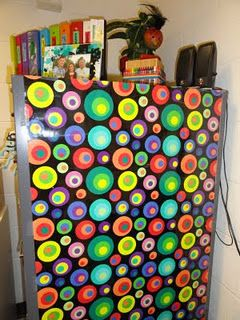 need to find cool wrapping paper to cover those nasty filing cabinets and make it usable magnetic work space.